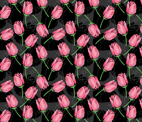 Tulips fabric by seattlerain on Spoonflower - custom fabric