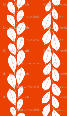 Mini leaf lines - red