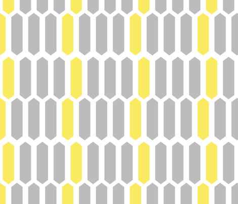 Gray and Yellow Geometric fabric by alihenrie on Spoonflower - custom fabric