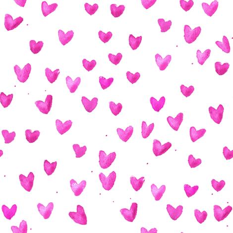 cestlaviv_pink hearts new2b fabric by cest_la_viv on Spoonflower - custom fabric