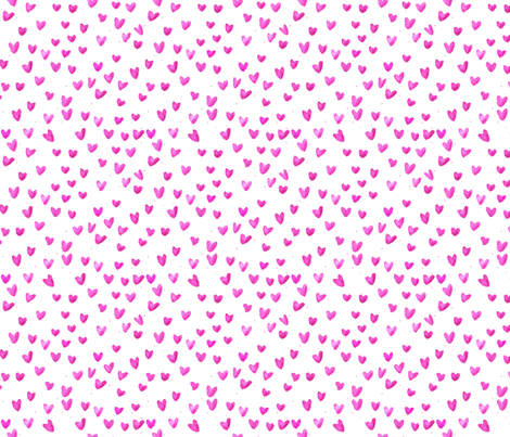 cestlaviv_pink hearts new2b fabric by cest_la_viv on Spoonflower - custom fabric