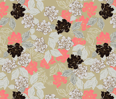 Gardenia Frost fabric by joanmclemore on Spoonflower - custom fabric