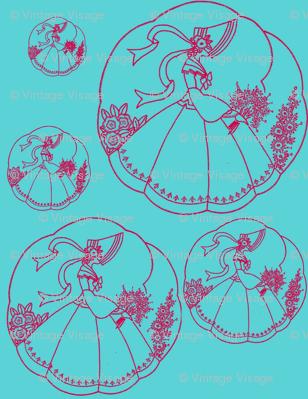 Vintage Crinoline Lady