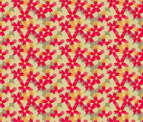 Hessian Kitchen flowers small fabric by glanoramay on Spoonflower - custom fabric