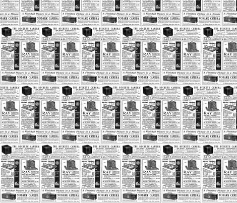 Newsprint Cameras fabric by flyingfish on Spoonflower - custom fabric