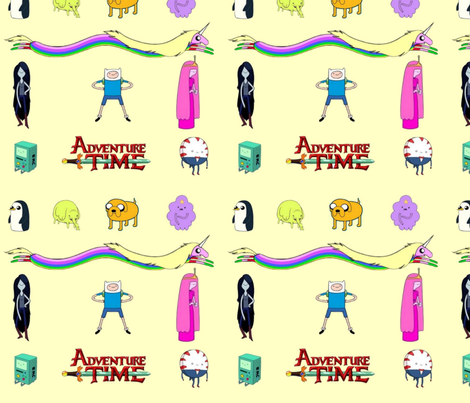 Adventure time yellow fabric by mörky_muffin on Spoonflower - custom fabric