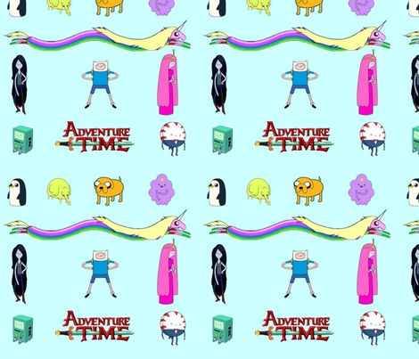 Adventure Time blue fabric by mörky_muffin on Spoonflower - custom fabric