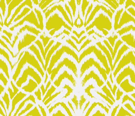 Wild Ikat Lemongrass fabric by ninaribena on Spoonflower - custom fabric