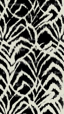 wild ikat Black and white