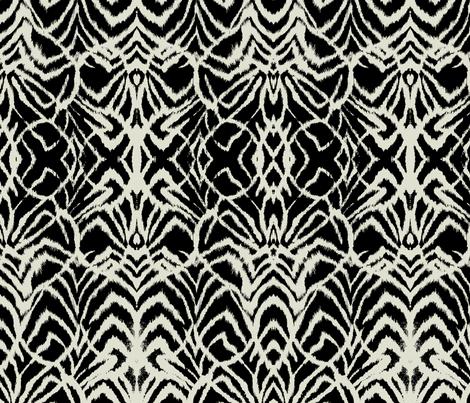 wild ikat Black and white fabric by ninaribena on Spoonflower - custom fabric