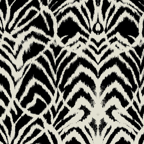 wild ikat Black and white