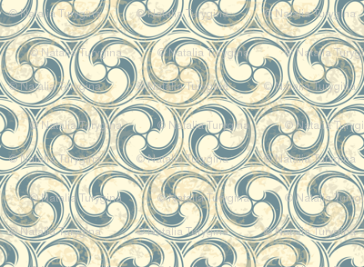 Vintage pattern with waves
