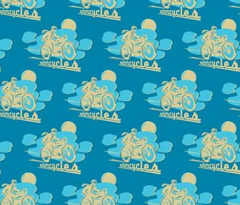 RETRO MOTO fabric by retrorudolphs on Spoonflower - custom fabric