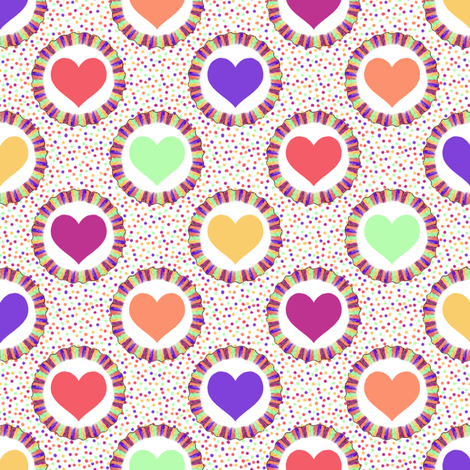 Party Hearts fabric by siya on Spoonflower - custom fabric
