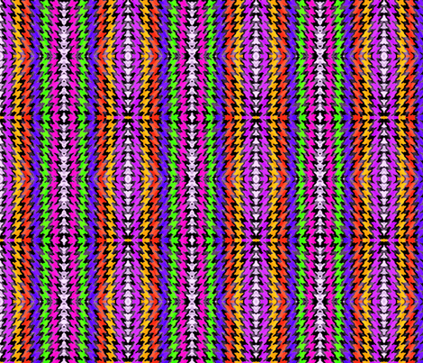 Abstract Rainbow Houndstooth fabric by poofhawk on Spoonflower - custom fabric