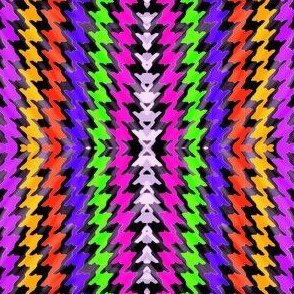 Abstract Rainbow Houndstooth
