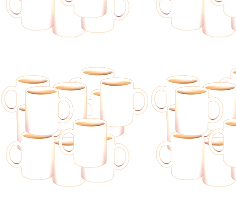 Coffee Mugs fabric by wwgoddess on Spoonflower - custom fabric