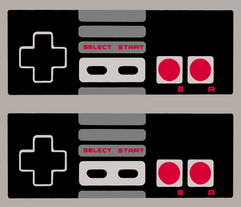 NES Controller - Large Horizontal fabric by retropopsugar on Spoonflower - custom fabric