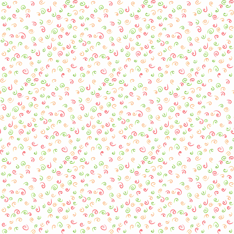 Ditsy swirls fabric by greennote on Spoonflower - custom fabric