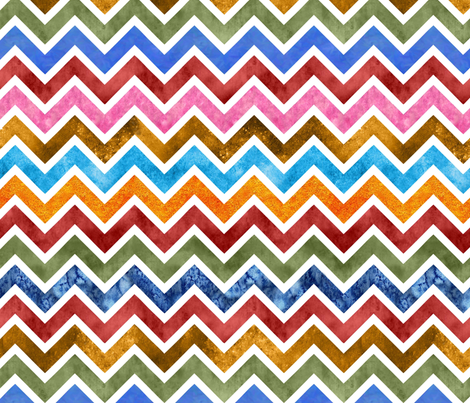 Mod chevrons fabric by vo_aka_virginiao on Spoonflower - custom fabric