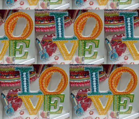 Candy is Love fabric by susaninparis on Spoonflower - custom fabric