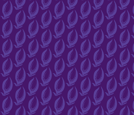 flower_with_seeds_1-purples smaller scale fabric by kcs on Spoonflower - custom fabric