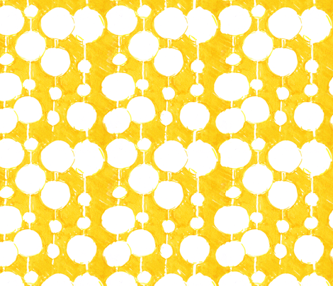 Big Fat Drops - Yellow fabric by penina on Spoonflower - custom fabric