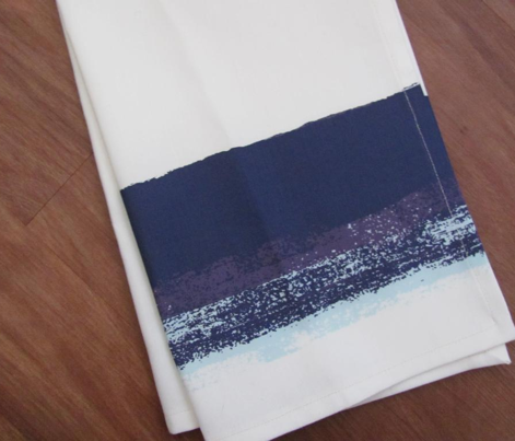 Brushed Border Tea Towel