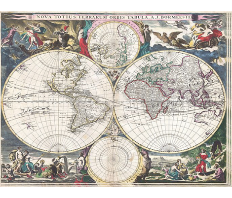 OLD WORLD MAP fabric by bluevelvet on Spoonflower - custom fabric