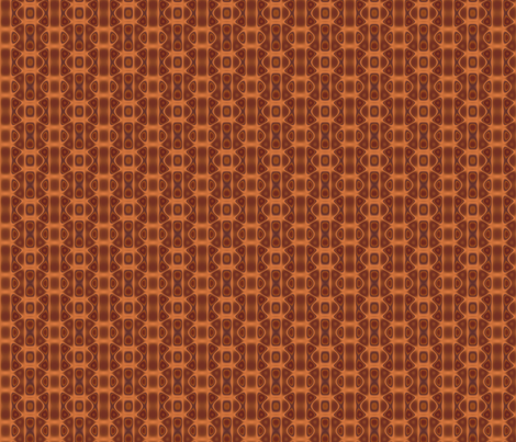 Copper Oval Interlock Geometric © Gingezel™ 2012 fabric by gingezel on Spoonflower - custom fabric