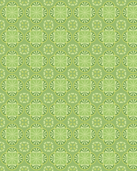 pattern-geometrycal_green-01 fabric by katja_saburova on Spoonflower - custom fabric
