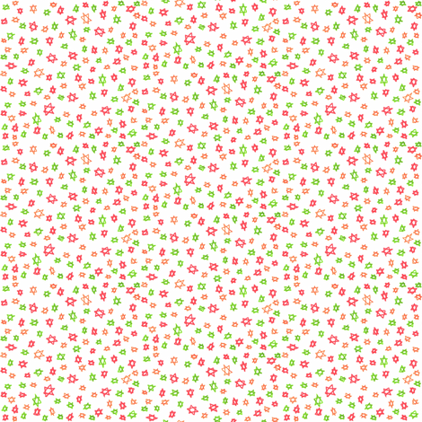 Ditsy stars fabric by greennote on Spoonflower - custom fabric