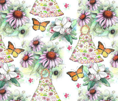 Grow fabric by jennartdesigns on Spoonflower - custom fabric