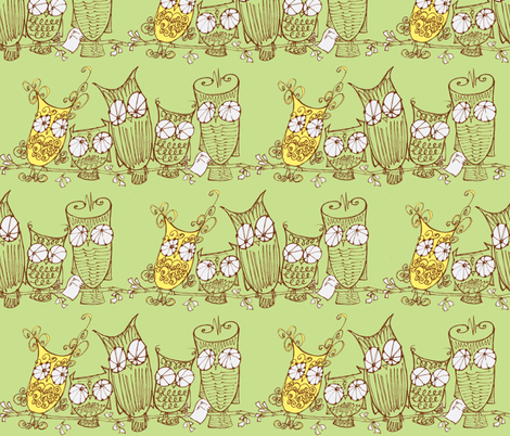 the committee_green fabric by cheeseandchutney on Spoonflower - custom fabric