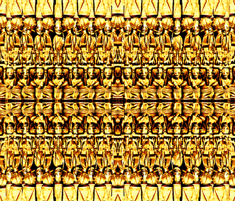 Golden Idol fabric by whimzwhirled on Spoonflower - custom fabric