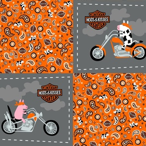 Mooo Cycle - Hogs & Kisses pillow