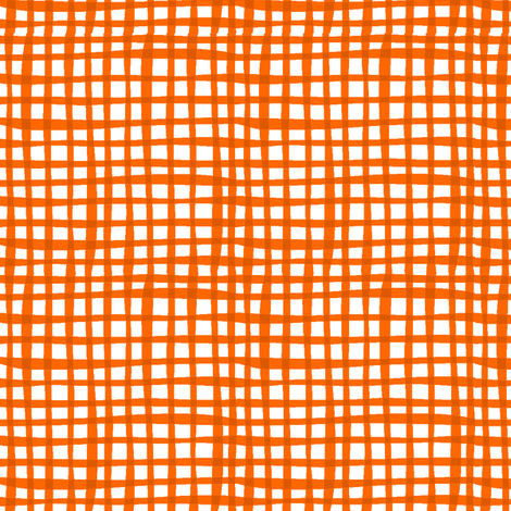 MoooCycles - Hogs & Kisses Orange Gingham fabric by bzbdesigner on Spoonflower - custom fabric