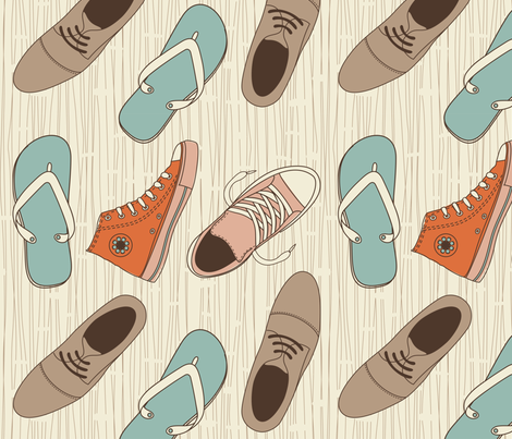 funky shoes vector pattern fabric by anastasiia-ku on Spoonflower - custom fabric