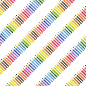 Coloured Pencil Stripe