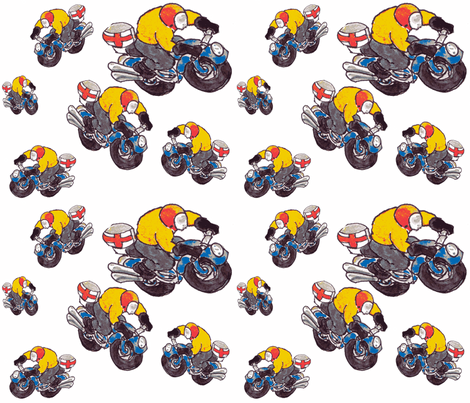 motorcycle riders 2 fabric by susanquekett on Spoonflower - custom fabric