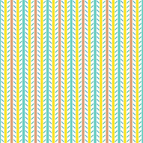 Candy Stripes - Minty Lemon Peach, Small Scale