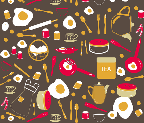 retro kitchen fabric by rcm-designs on Spoonflower - custom fabric