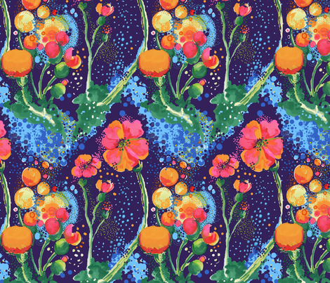 Flower_Power_ fabric by vita_musacchia on Spoonflower - custom fabric
