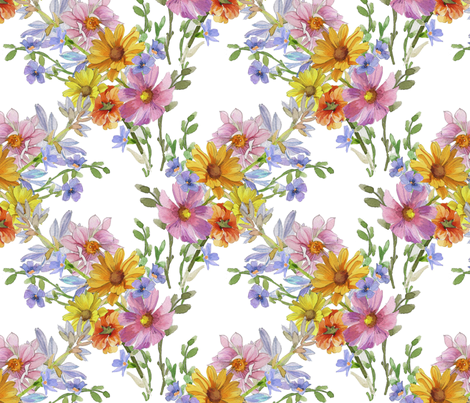 Flower Trellis fabric by joanna_oh! on Spoonflower - custom fabric