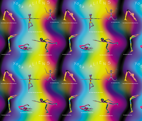 Yoga Aliens, S fabric by animotaxis on Spoonflower - custom fabric