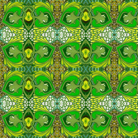 Walking Past the Pond  fabric by edsel2084 on Spoonflower - custom fabric