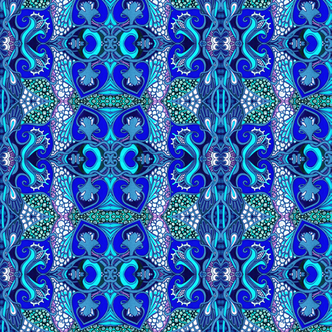 Blue Bubble Trouble fabric by edsel2084 on Spoonflower - custom fabric