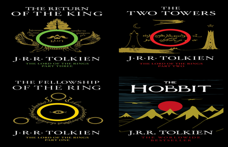 LOTR book covers fabric by retropopsugar on Spoonflower - custom fabric