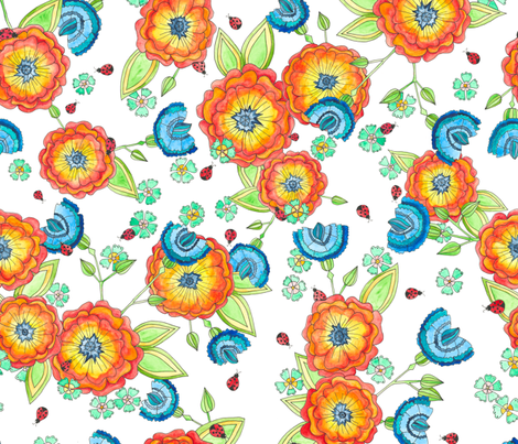 Summery fabric by petrakern on Spoonflower - custom fabric