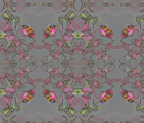 Beeblossoms fabric by kali_d on Spoonflower - custom fabric
